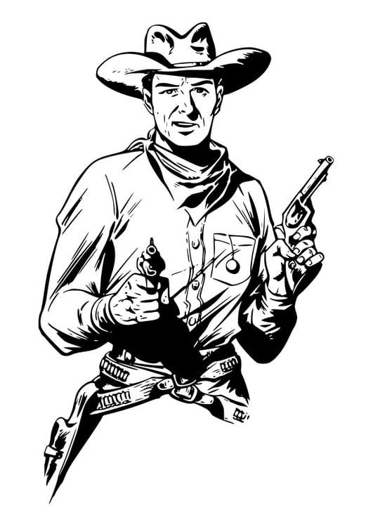 Malvorlage Cowboy Ausmalbild 29898