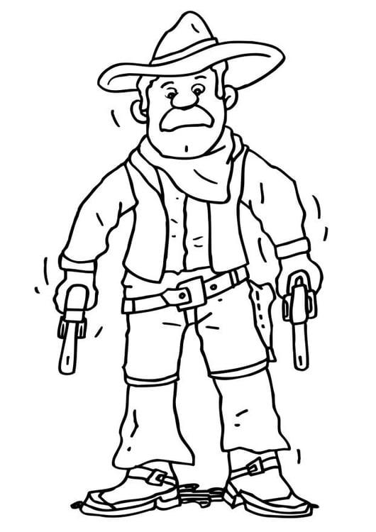 ausmalbilder cowboy