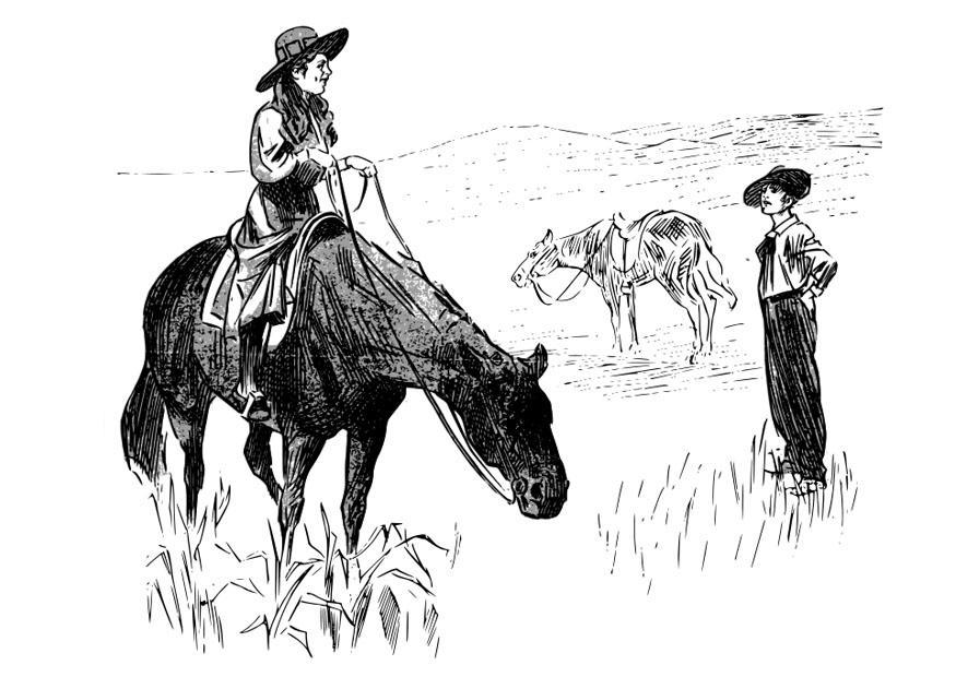 malvorlage cowgirl  kostenlose ausmalbilder zum ausdrucken