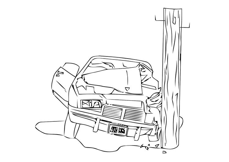 Malvorlage Crash Unglück Ausmalbild 11406