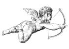 Malvorlage  Cupido