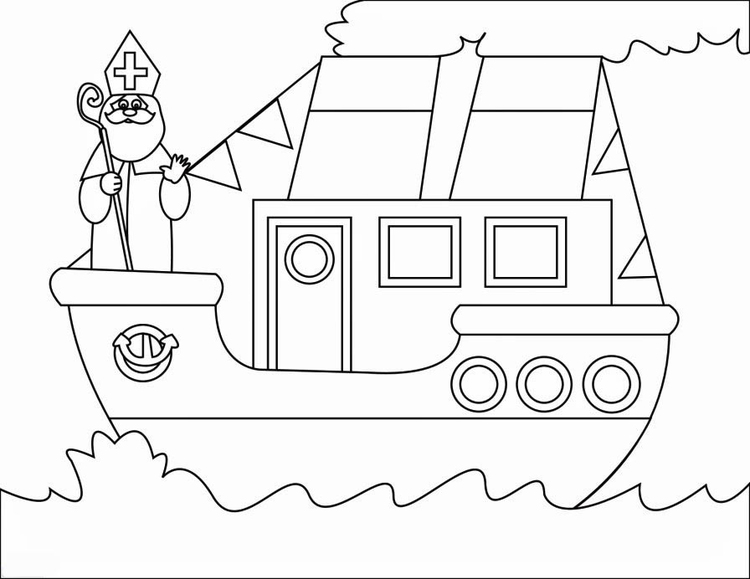 Muts Verjaardag Kleurplaat Malvorlage Dampfschiff