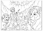 Malvorlage  Daniel in der Löwengrube