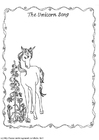 Malvorlage  Das Einhornlied - Einhorn