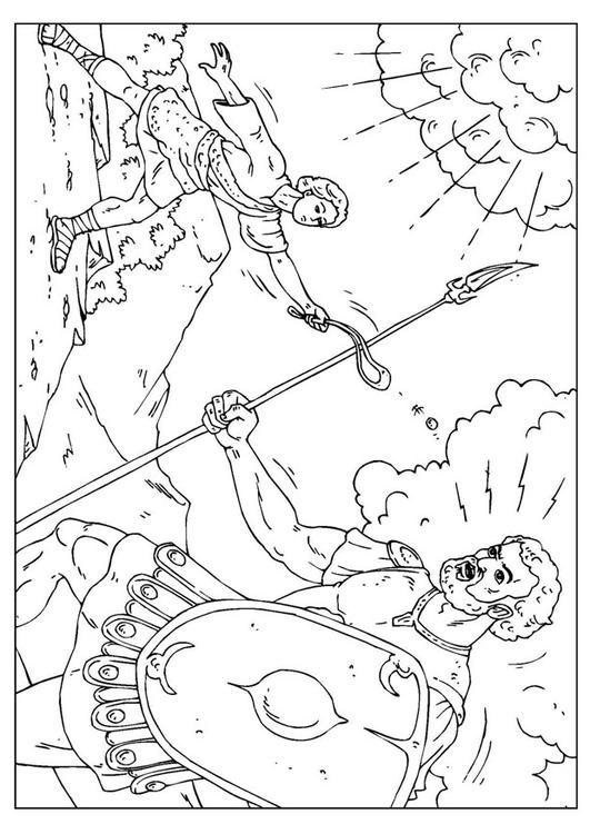 Malvorlage David Und Goliath Ausmalbild 25958