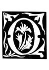 Malvorlage  Dekorativer Buchstabe - O