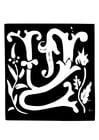 Malvorlage  Dekorativer Buchstabe - W