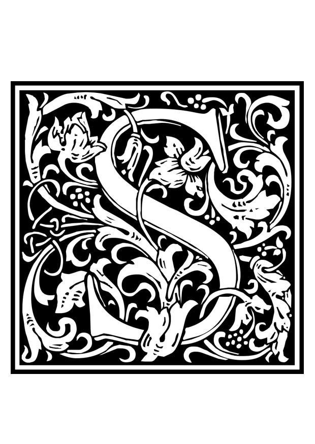 malvorlage dekoratives alphabet  s  ausmalbild 28658