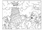 Malvorlage  Der Turm von Babel