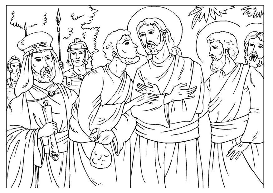 Malvorlage Der Verrat Von Judas Ausmalbild 25916