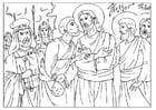 Malvorlage  der Verrat von Judas