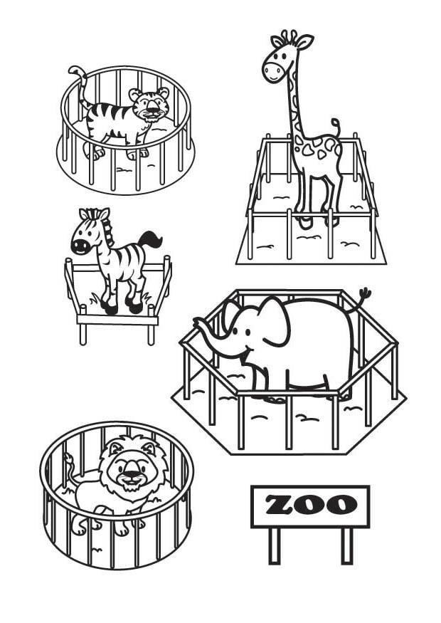 malvorlage der zoo  kostenlose ausmalbilder zum