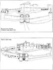 Malvorlage  Die Burg 1320 und heute