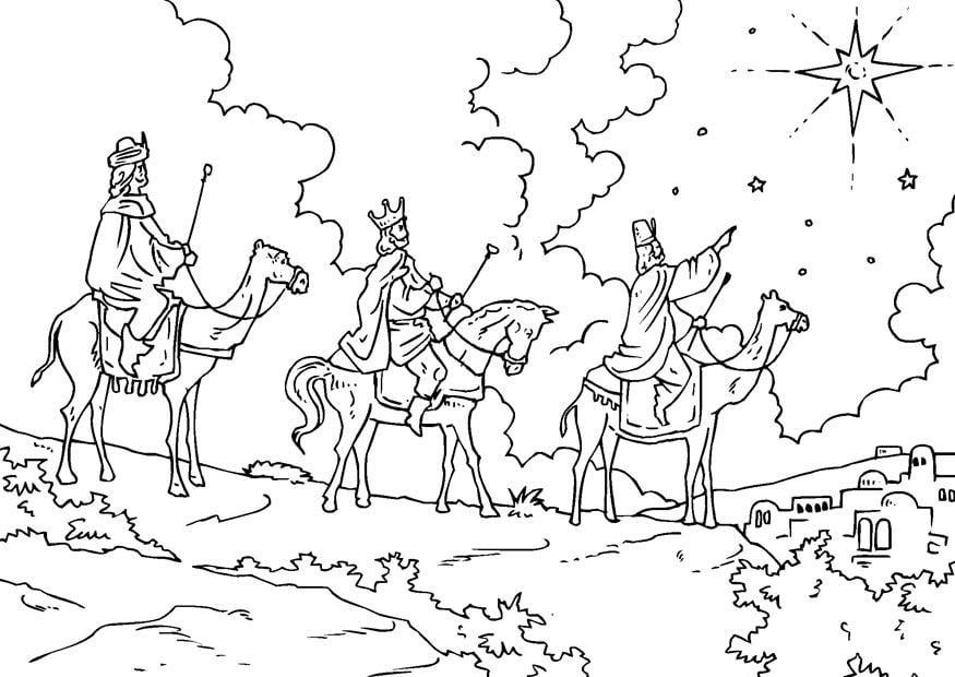 Malvorlage Die drei Könige | Ausmalbild 26006.