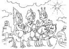 Malvorlage  Die drei Könige