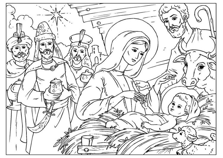 malvorlage die geburt christus  ausmalbild 26957