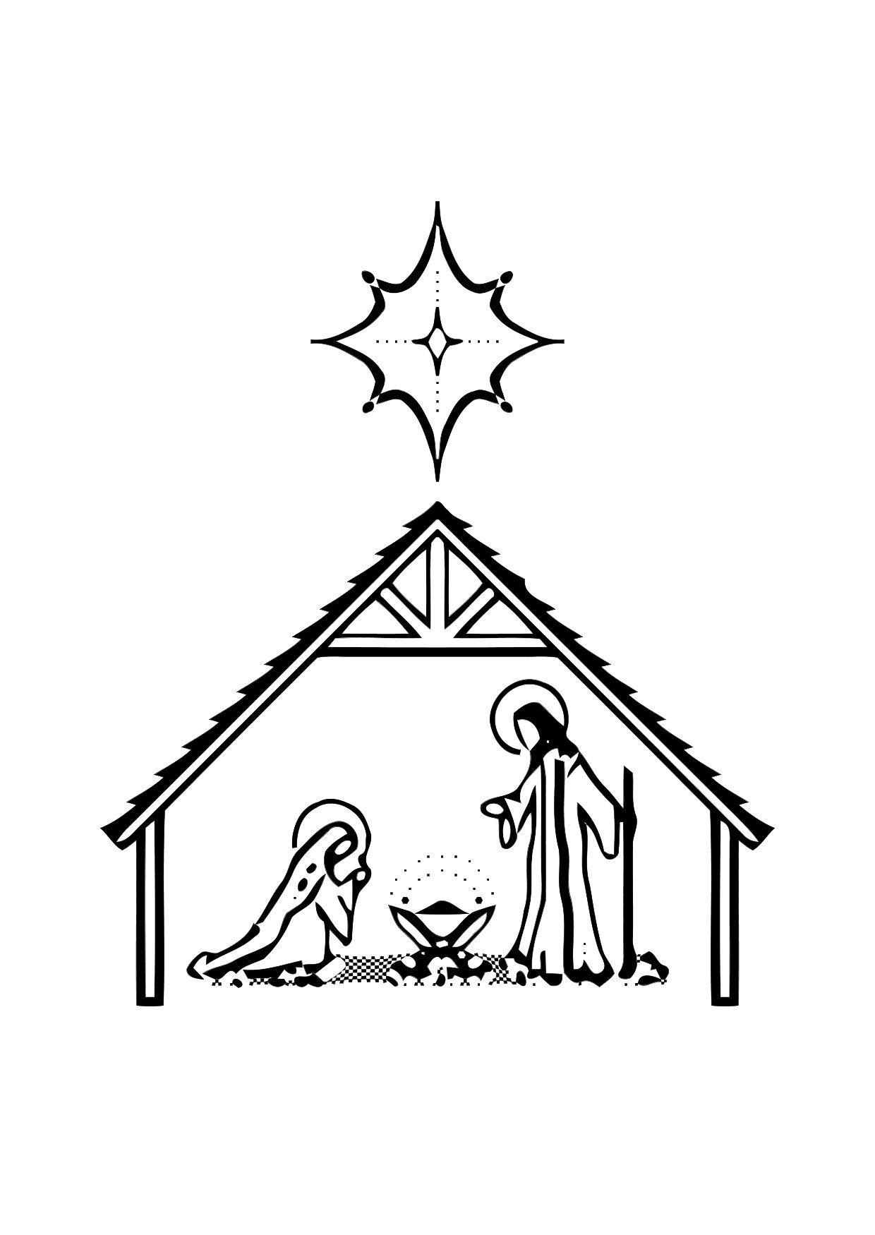 Malvorlage die Geburt von Jesus | Ausmalbild 11317.