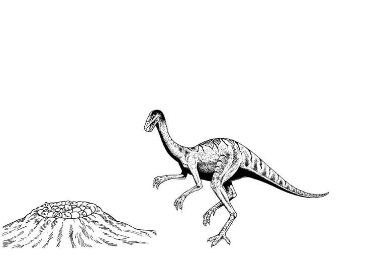 malvorlage dinosaurier am nest  kostenlose ausmalbilder