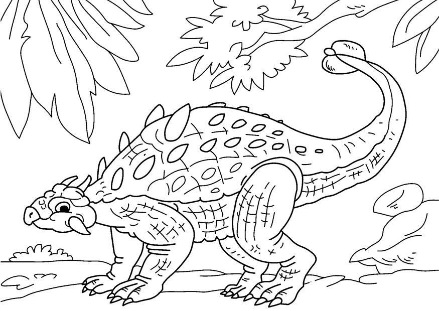 malvorlage dinosaurier  ankylosaurus  kostenlose