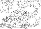 Malvorlage  Dinosaurier - Ankylosaurus