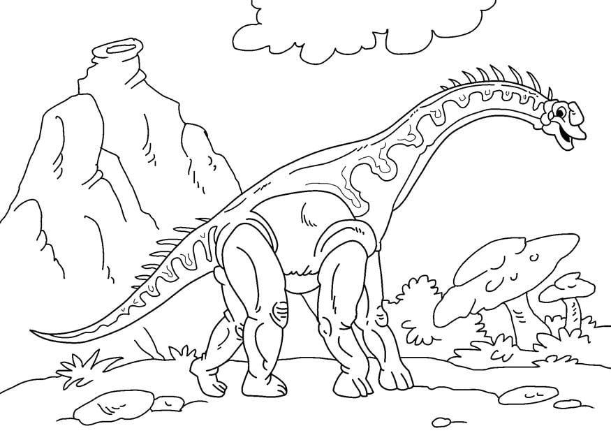 Malvorlage dinosaurier diplodocus ausmalbild 27627 - Dessin de diplodocus ...