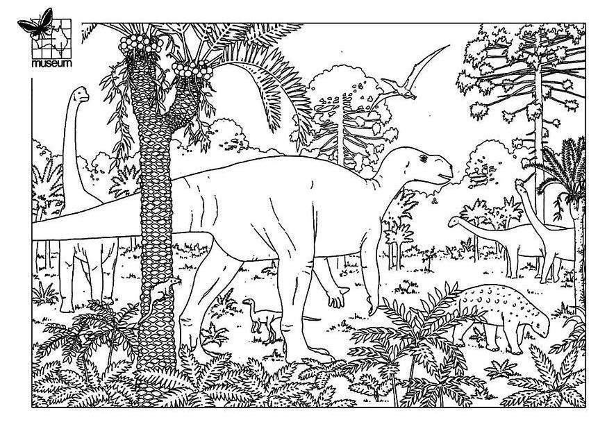 Malvorlagen Dinosaurier Landschaft   My blog