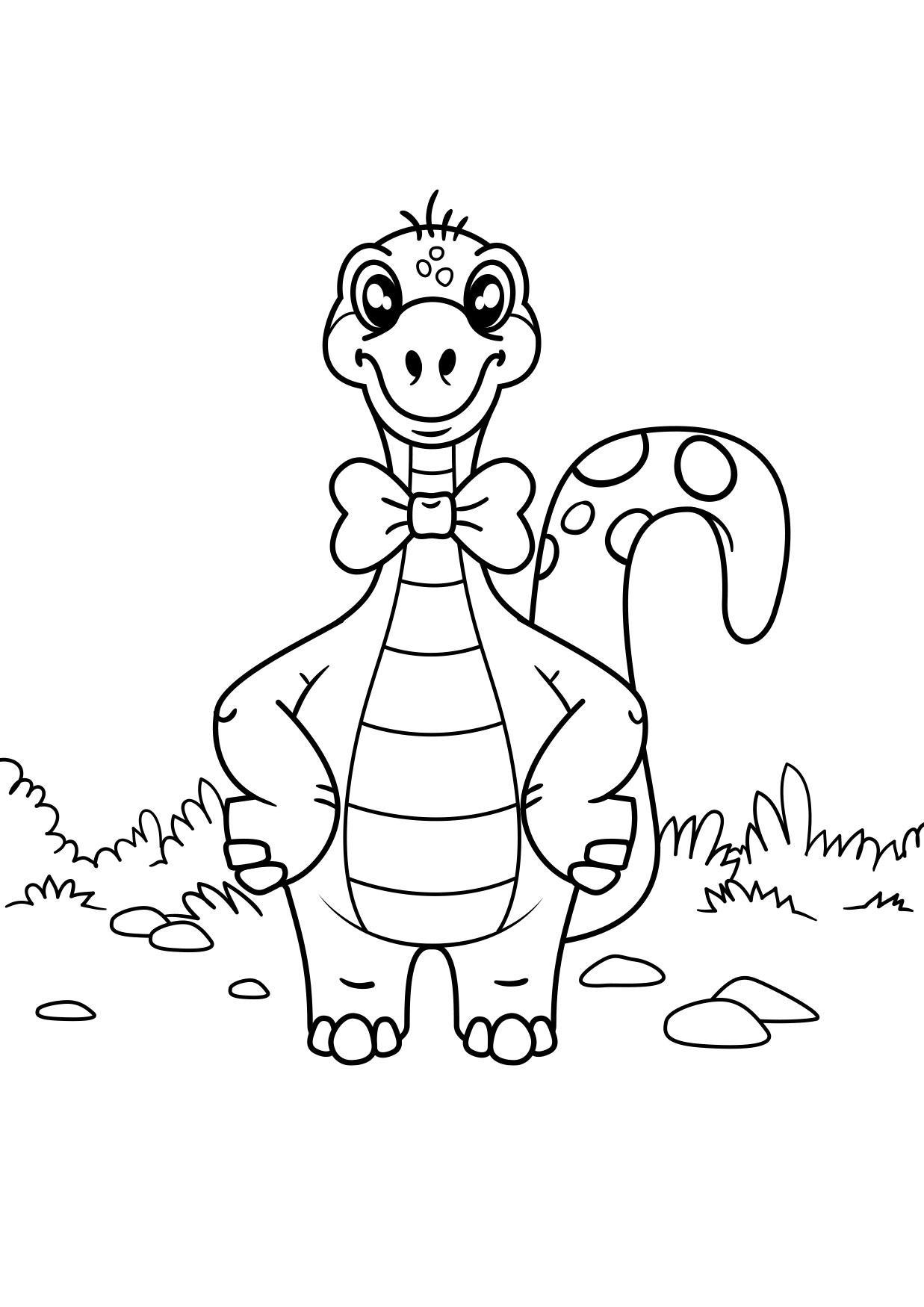 malvorlage dinosaurier mit bogen  kostenlose ausmalbilder