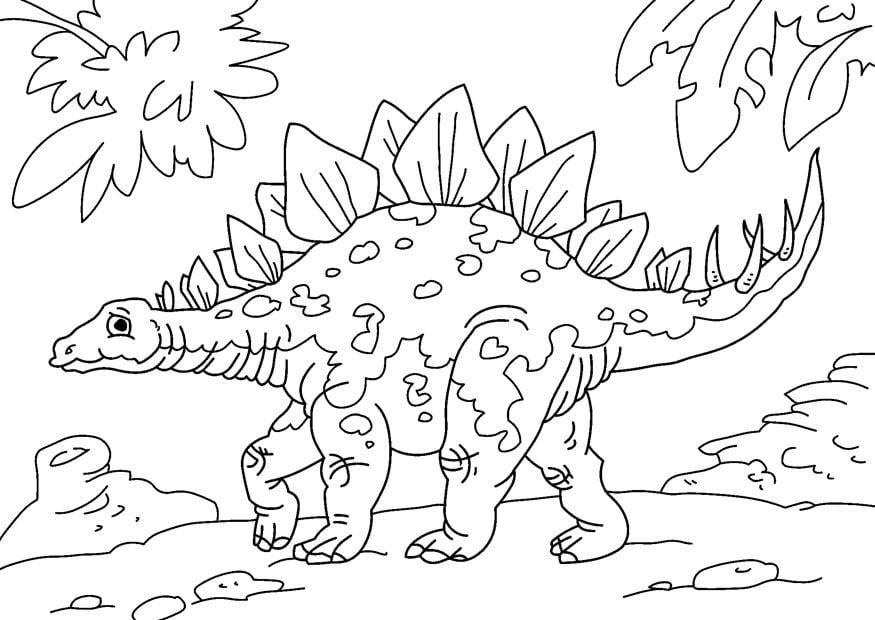 malvorlage dinosaurier  stegosaurus  kostenlose