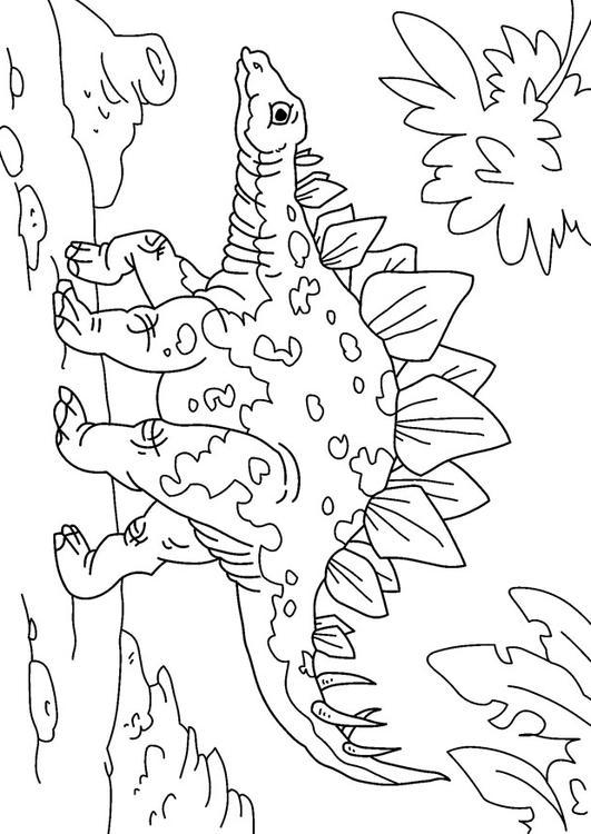 Malvorlage Dinosaurier   Stegosaurus   Ausmalbild 27626.