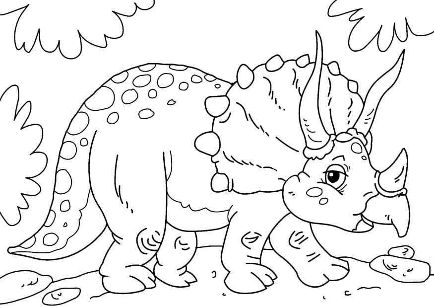 Malvorlage Dinosaurier - Triceratops | Ausmalbild 27631.