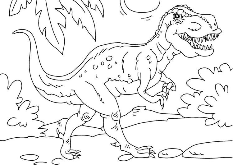 Malvorlage Dinosaurier Tyrannosaurus Rex Ausmalbild 27625