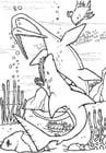Malvorlage  Dinosaurier Unterwasser