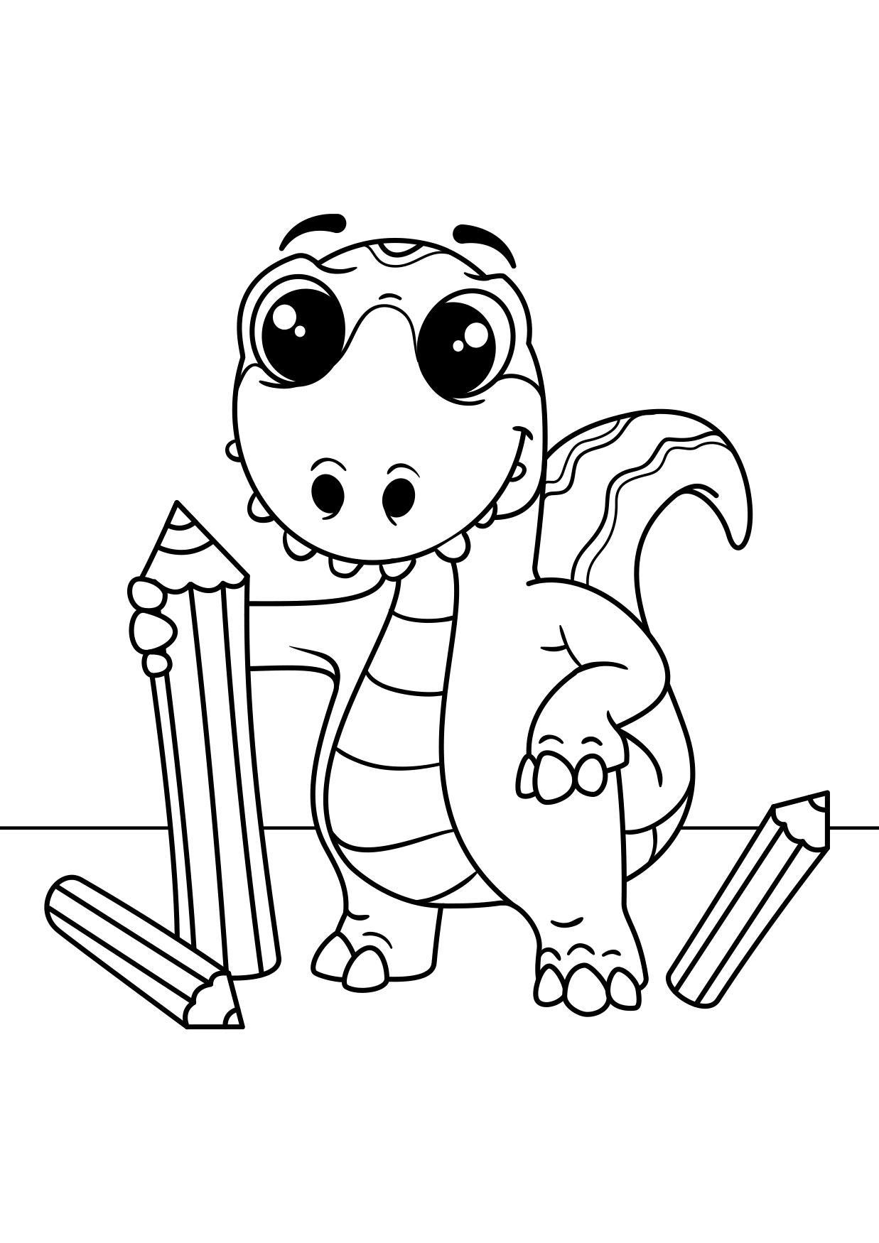 malvorlage dinosaurier zeichnet  kostenlose ausmalbilder