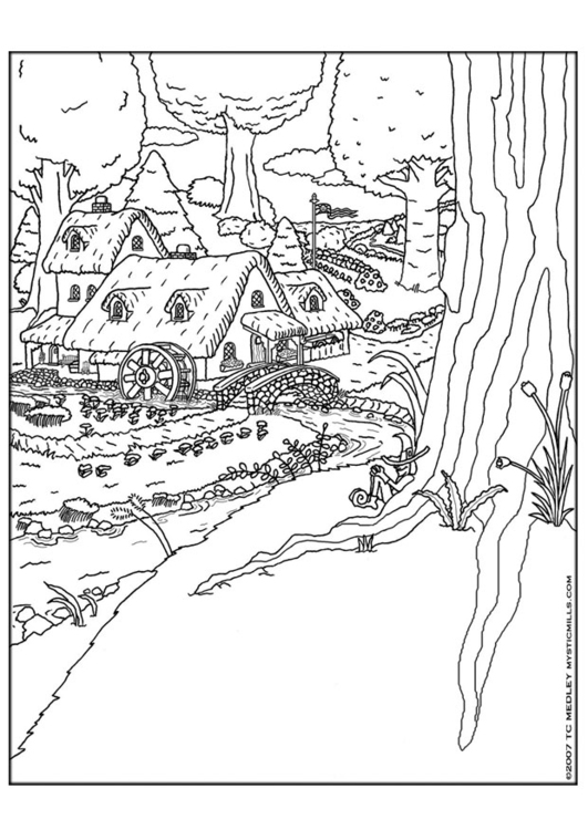 Colonial village coloring pages coloring coloring pages for Colonial coloring pages