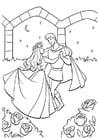 Malvorlage  Dornröschen mit dem Prinz