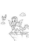 Malvorlage  Drache wird fliegen