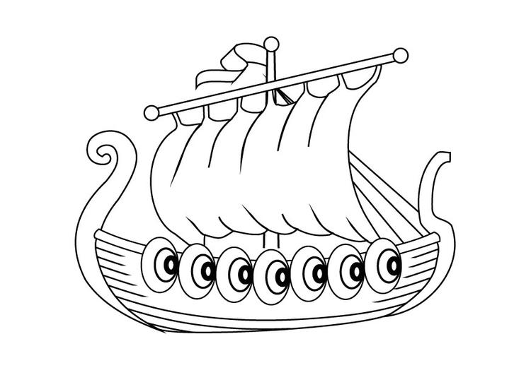 Malvorlage Drachenboot | Ausmalbild 9874.