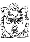 Malvorlage  Drachenmaske