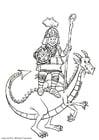 Malvorlage  Drachenritter