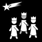 Malvorlage  Drei Könige