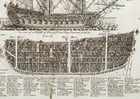 Malvorlage  Dreimaster Kriegsschiff Querschnitt