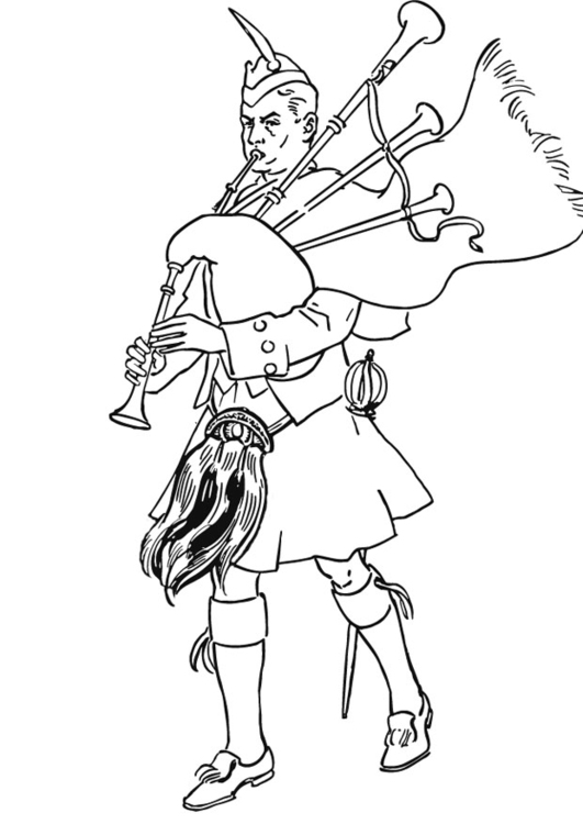 Bag Pipe Coloring Page