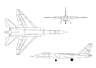 Malvorlage  Düsenjäger A-5A Vigilante