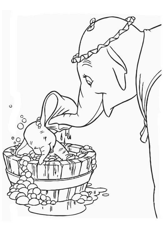 Malvorlage Dumbo Ausmalbild 20751