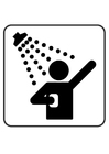 Malvorlage  duschen