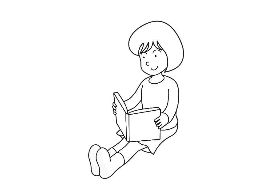 malvorlage ein buch lesen  kostenlose ausmalbilder zum