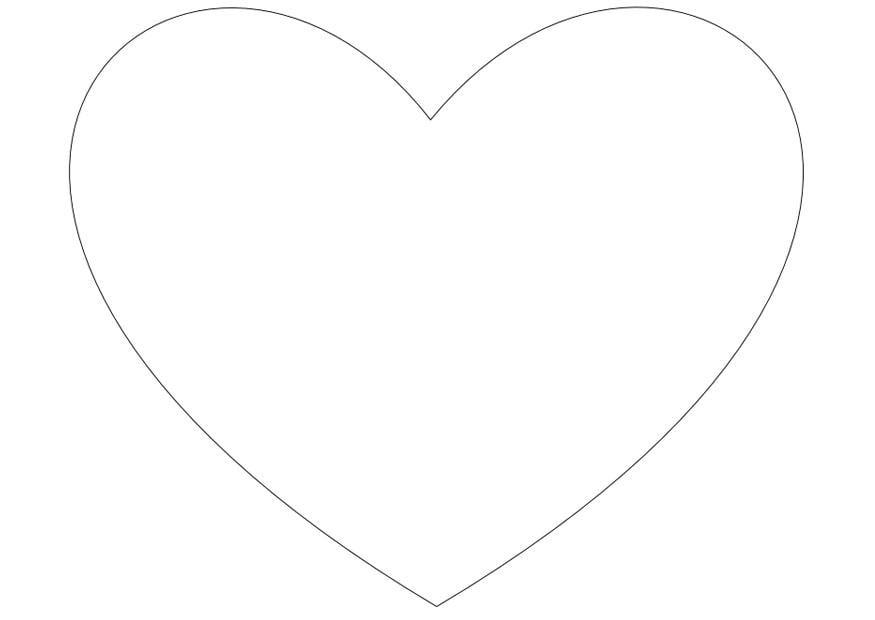 Malvorlage einfaches Herz | Ausmalbild 10026.