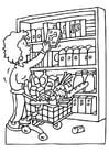 Malvorlage  einkaufen