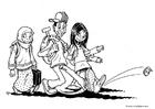 Malvorlage  Einwandererkinder