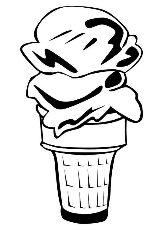 Malvorlage Eiscreme Ausmalbild 10110
